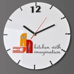 Kuchenny zegar KITCHEN WITH IMAGINATION  30 cm