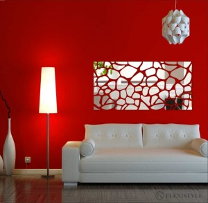 Large acrylic mirror  Rocks 140x70cm